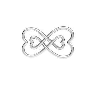 Símbolo de infinito colgante, plata 925, ODL-00674 11x20,5 mm