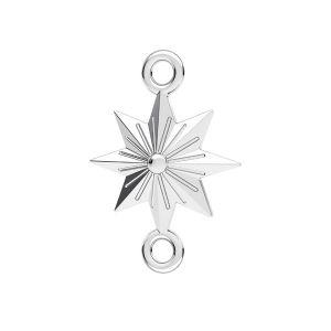 Estrella colgante*plata 925*ODL-00638 12x17,1 mm