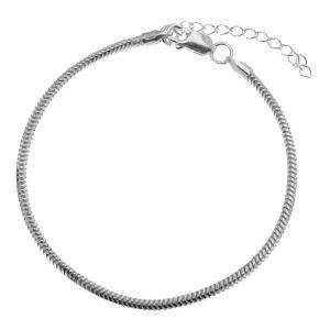 Cadena de serpiente flexible, pulsera*plata 925*HAND BASE CSTD 2,4 (18 + 4 cm)