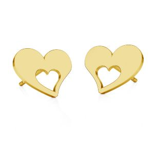 Corazón aretes, plata 925, KLS LKM-2357 - 0,50 8,4x8,4 mm