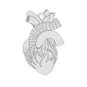 Corazón colgante plata 925*LKM-2370 - 0,50 14x21,6 mm