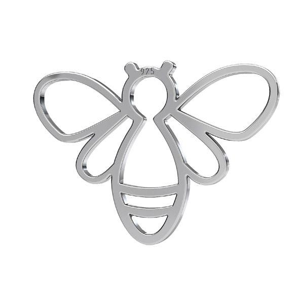 Abeja colgante, plata 925, LKM-2358 - 0,50 15x20,8 mm