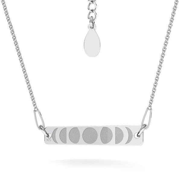 Rectangular colgante plata 925, LKM-2038 - 0,40