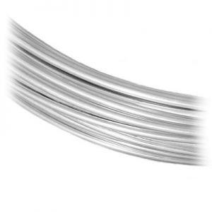 Alambre de joyería SILVER WIRE-H 1,2 mm