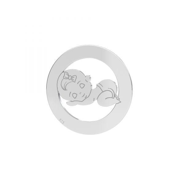 Niña colgante*plata 925*LKM-2360 - 0,50 17,5 mm