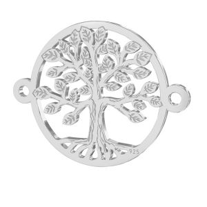 Arbol colgante, plata 925, LKM-2514 - 0,50 15x19,6 mm