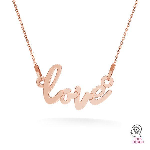 Love colgante*plata 925*LKM-2397 - 0,50 10x18,7 mm
