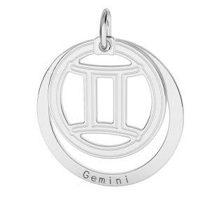 Colgante Geminis zodíaco*plata 925*LKM-2585 - 0,50 18x22 mm