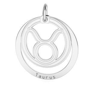 Colgante Tauro zodíaco*plata 925*LKM-2586 - 0,50 18x22 mm
