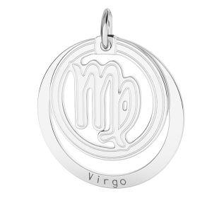 Colgante Virgo zodíaco*plata 925*LKM-2590 - 0,50 18x22 mm