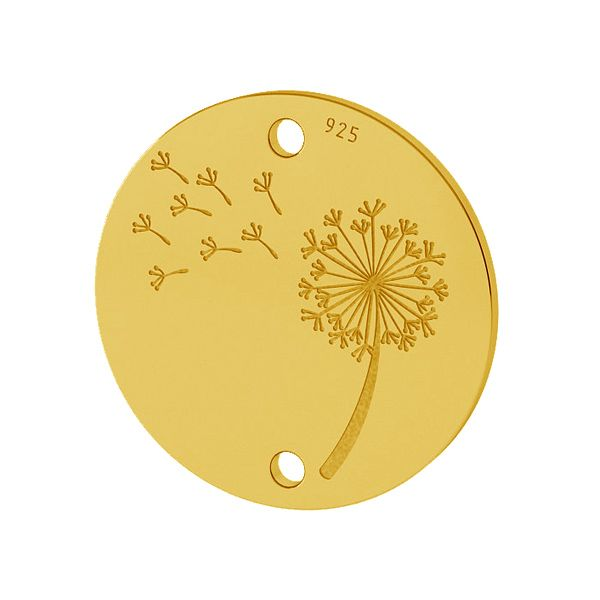 Diente de león colgante plata 925, LKM-2027