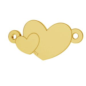 Corazón colgante plata 925, LKM-2037