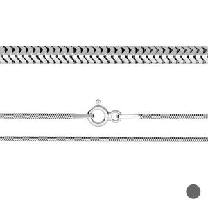 Serpiente flexible cadena*plata 925*CSTD 1,6 (40 cm)