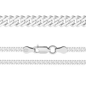 Cadena rombo*plata 925*RD 100 6L (38 cm)