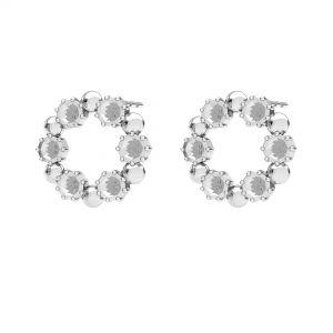 Redondo pendientes, plata 925, ODL-00704 KLS 14,2 mm (1088 PP 18)