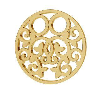 Redondo oro 8K colgante LKZ8K-30005 - 0,30 13x13 mm