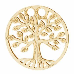 Árbol de la vida colgante*oro 333*LKZ8K-30017 - 0,30 19x19 mm