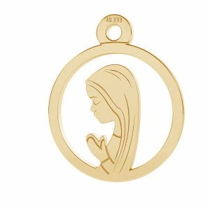 Nuestro medallón de la señora Fatima colgante*oro 333*LKZ8K-30021 - 0,30 10,5x12,9 mm