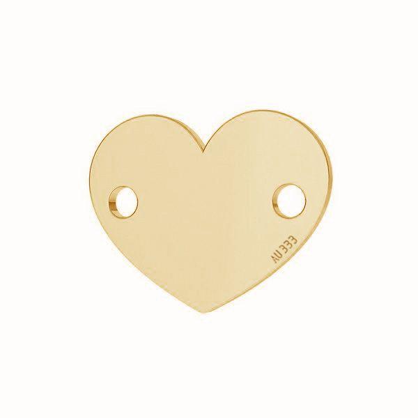 Corazón colgante*oro 333*LKZ-30029 - 0,30 6x7,5 mm
