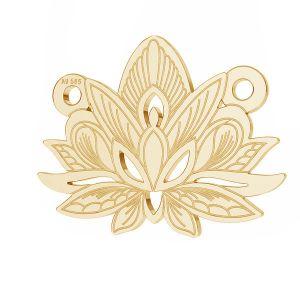 Loto flor colgante*oro 585*LKZ14K-50050 - 0,30 12,3x15,8 mm