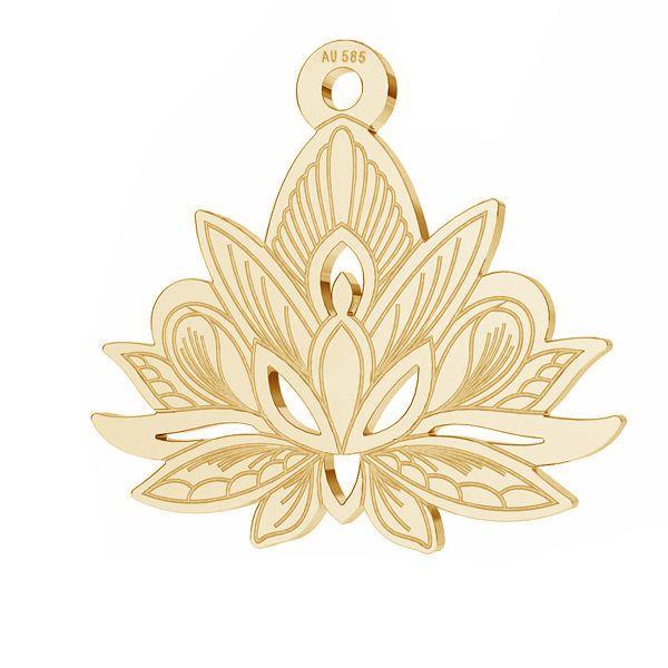 Loto flor colgante*oro 585*LKZ14K-50049 - 0,30 14,4x15,8 mm