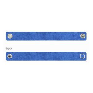 Alcantara base de pulsera - azul, ALC 02 1,2x20 cm