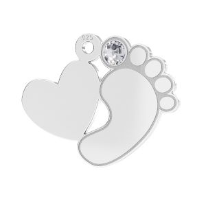 Pies de bebe colgante*plata 925*LKM-2646 - 0,50 13,2x16,5 mm
