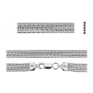 Coreana cadena*plata 925*PLE CORD 1,2 2S (45 cm)