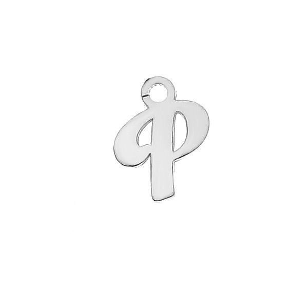 Letra T colgante*plata 925*LK-0076 - 0,50 5,1x9,5 mm