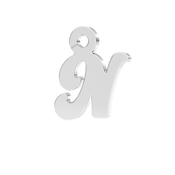 Letra R colgante*plata 925*LK-0076 - 0,50 7x9,5 mm
