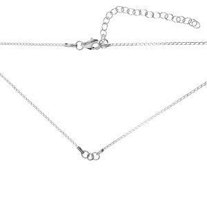 Base del collar*plata 925*CHAIN 9 (PD 40 20+20 cm) 41 cm