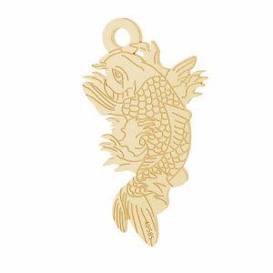Pescado Koi colgante*oro 585*LKZ14K-50090 - 0,30 10,6x19,2 mm