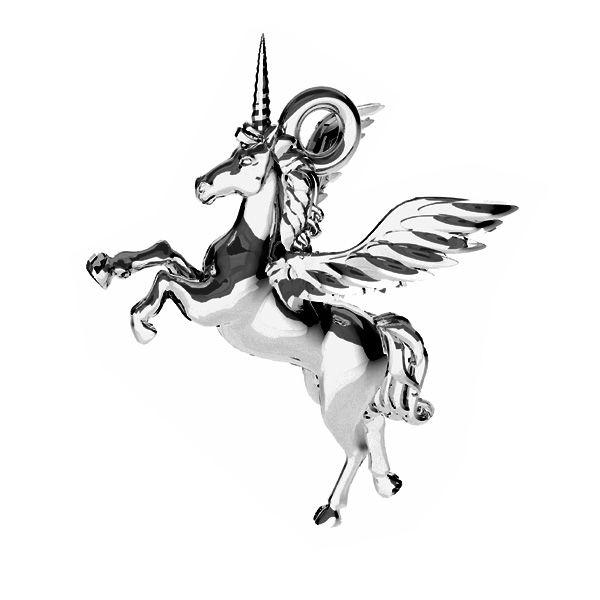 Unicornio colgante, ODL-00778 15,5x16,2 mm