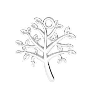 Árbol de la vida colgante plata 925, ODL-00764 21,5x21,5 mm