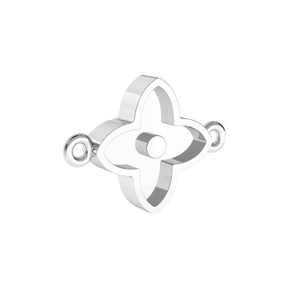 Colgante flor para resina*plata 925*CON 2 ODL-00779 10,5x14,1 mm