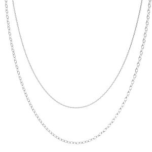 Base de collar, plata 925, CHAIN 46 (A 030 / A 050)