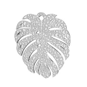 Monstera hoja colgante, plata 925, LKM-2761 0,50 19,4x21,8 mm