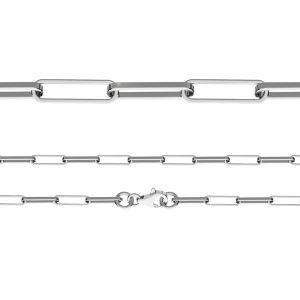 Cadena de ancla, corte de diamante*plata 925*FIO 100 45 cm
