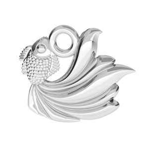 Fish pendant - S-CHARM 98 - ODL-00782 10,5x12 mm