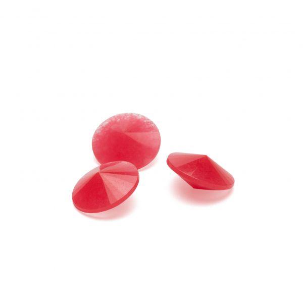 Jadeíta rosa 12 mm, piedra semipreciosa
