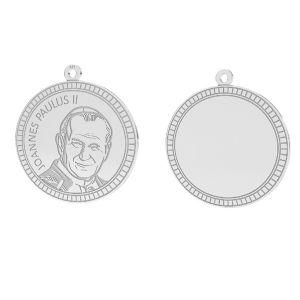 Papa Juan Pablo II colgante, plata 925, LKM-2946 - 0,50 25x25,5 mm