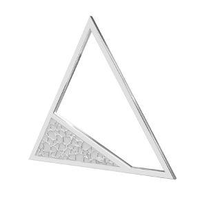 Triángulo colgante plata 925, LKM-2746 - 0,50 17,4x20 mm