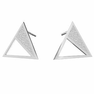 Triángulo aretes, plata 925, KLS LKM-2750 - 0,50 11,3x13,1 mm