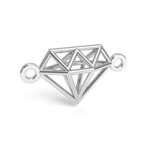 Colgante diamante de origami, plata 925, CON 1 E-PENDANT 654 9,55x17,6 mm