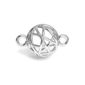 Colgante hemisferio, plata 925, CON 1 E-PENDANT 645 8,4x13,3 mm