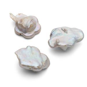 Flores perlas naturales 17 mm, GAVBARI PEARLS