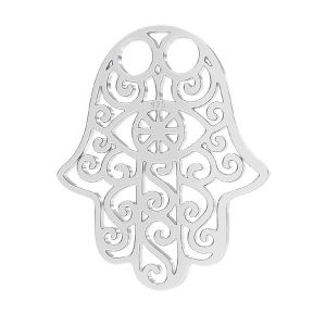 Hamsa colgante, plata 925,LKM-2640 - 0,50 15x20,0 mm