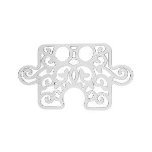 Rompecabezas colgante*plata 925*LKM-2639 - 0,50 11x19 mm