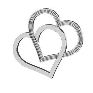 Corazón colgante ,plata 925, LK-2190 - 05 18x21 mm