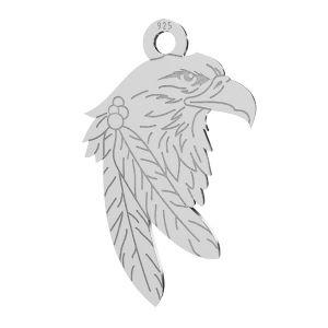 Aguila colgante, plata 925, LKM-2209 - 0,50 13,1x21,9 mm